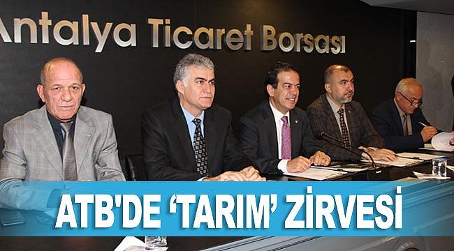 ATB'DE 'TARIM' ZİRVESİ