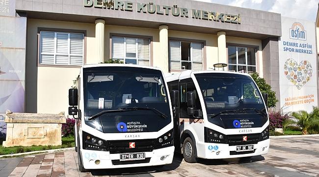 Demre ulaşıma iki minibüs