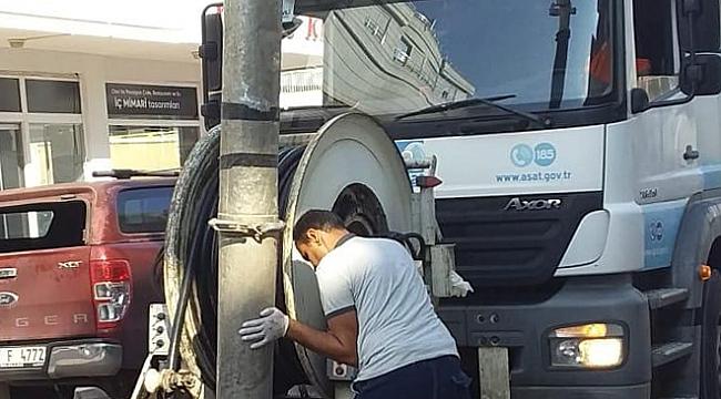 Demre ve Kumluca'da kanalizasyon temizliği