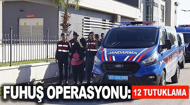 Fuhuş operasyonu: 12 tutuklama