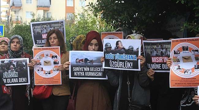 İHH Antalya'dan protesto