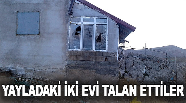 Yayladaki iki evi talan ettiler