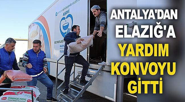 Antalya'dan Elazığ'a yardım konvoyu gitti
