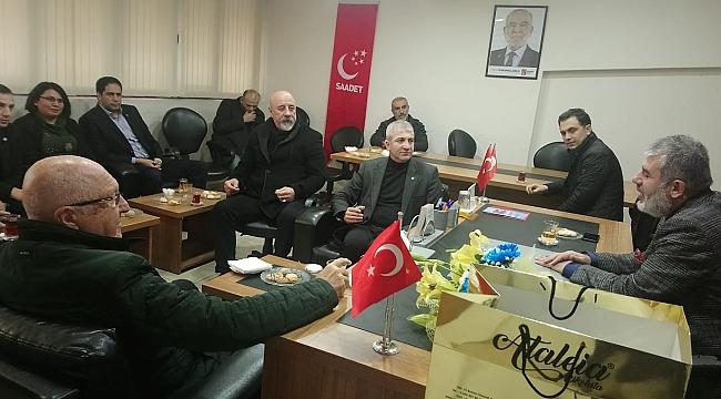 İYİ Parti'den Saadet'e ziyaret