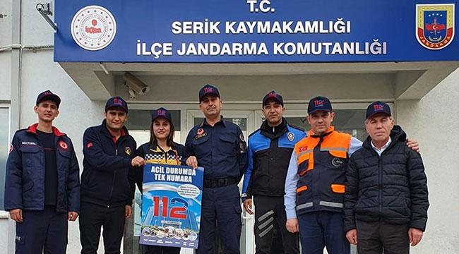 112 heyeti Serik'te