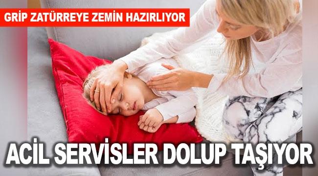 ACİL SERVİSLER DOLUP TAŞIYOR
