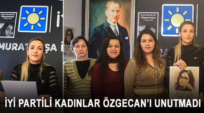 İYİ PARTİLİ KADINLAR ÖZGECAN'I UNUTMADI