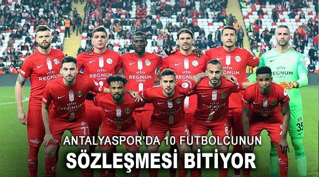 Antalyaspor'da 10 futbolcunun sözleşmesi bitiyor