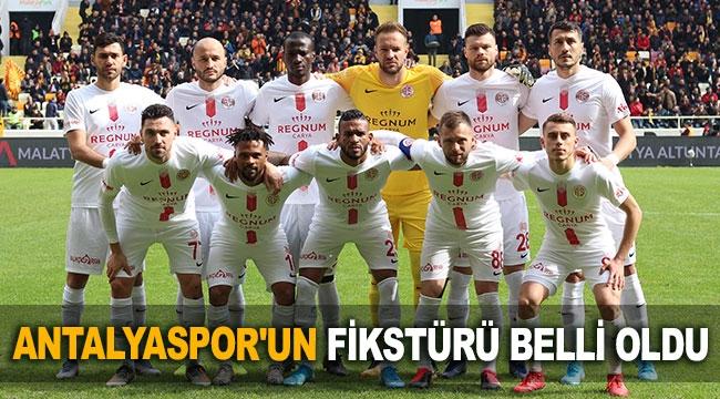 Antalyaspor'un fikstürü belli oldu
