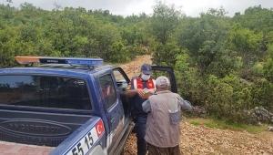 Jandarma, maaşını ormanda teslim etti