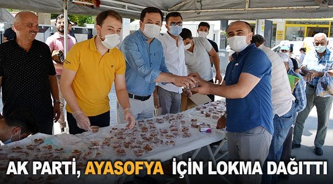 AK Parti, Ayasofya için lokma dağıttı