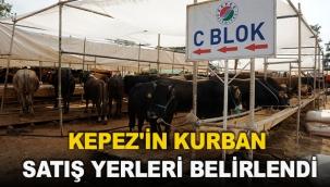 Kepez'in kurban satış yerleri belirlendi
