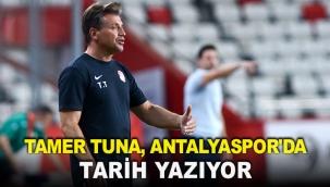 Tamer Tuna, Antalyaspor'da tarih yazıyor