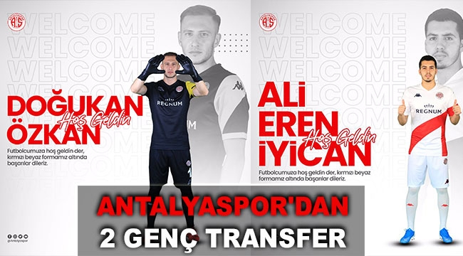 Antalyaspor'dan 2 genç transfer
