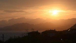 Demre'de gün batımı güzelliği