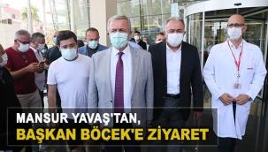 Mansur Yavaş'tan, Başkan Böcek'e ziyaret