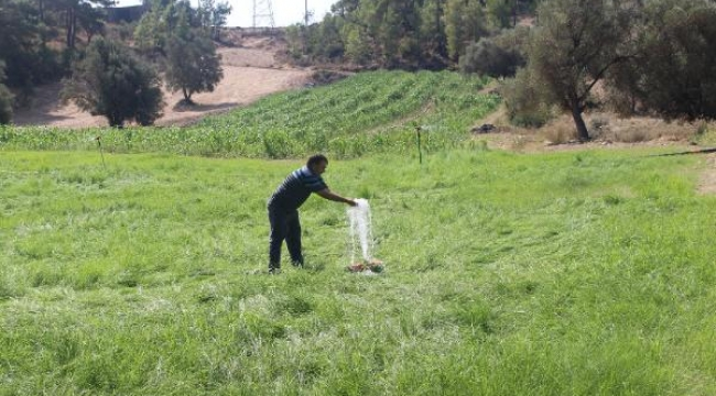Belenobası sulama tesisi üreticinin yüzünü güldürdü