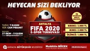 Büyükşehir'den ödüllü FIFA 2020 Turnuvası