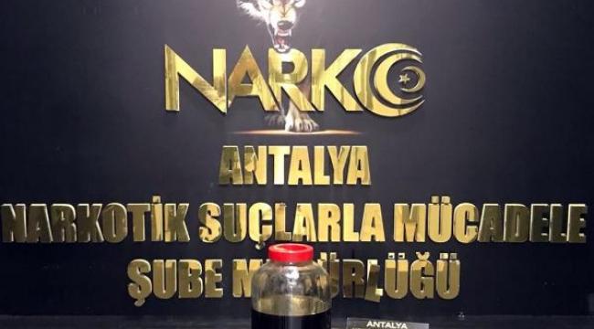 Antalya'da 500 bin kullanımlık uyuşturucu madde ele geçirildi