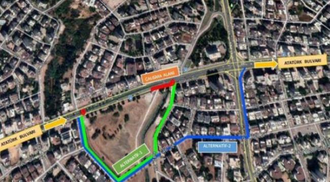 Atatürk Bulvarı'nın bir bölümü trafiğe kapatılacak
