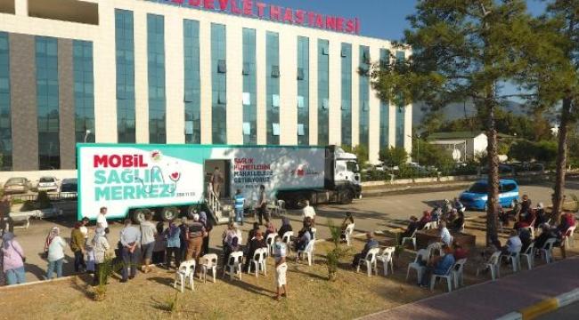 Kepez'in Mobil Sağlık Merkezi Finike'de