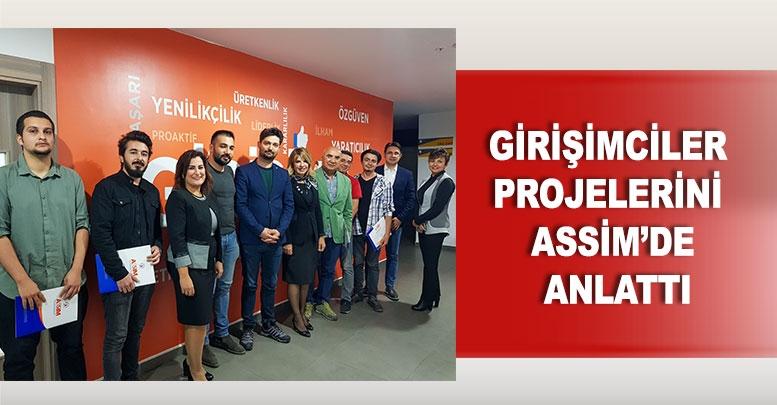 Girişimciler projelerini, ASSİM'de anlattı